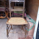 caned sheet side chair