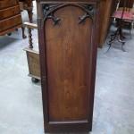 pine single door cabinet